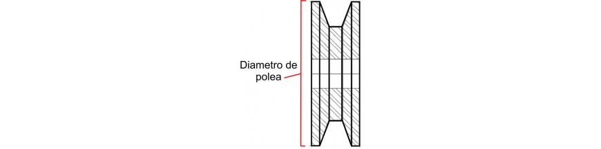 76 MM DIAMETRO DE POLEA