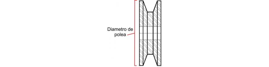 155 MM DIAMETRO DE POLEA