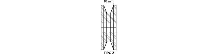 TIPO SPZ ( ANCHO DE CANAL 10MM )